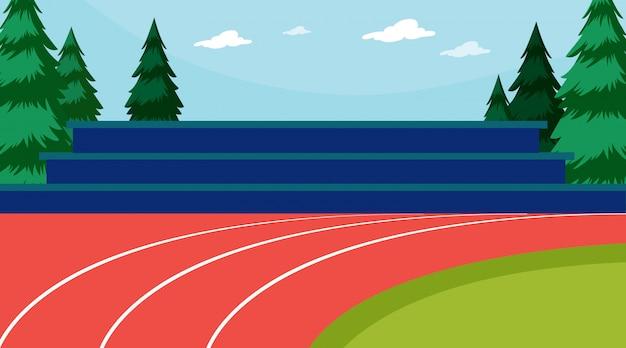 Cena de pista de atletismo