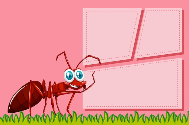 Cena de quadro de formiga vermelha