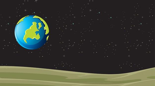 Cena de terra do planeta