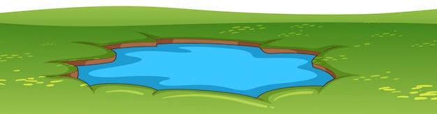 Cena do ambiente natural lanscape