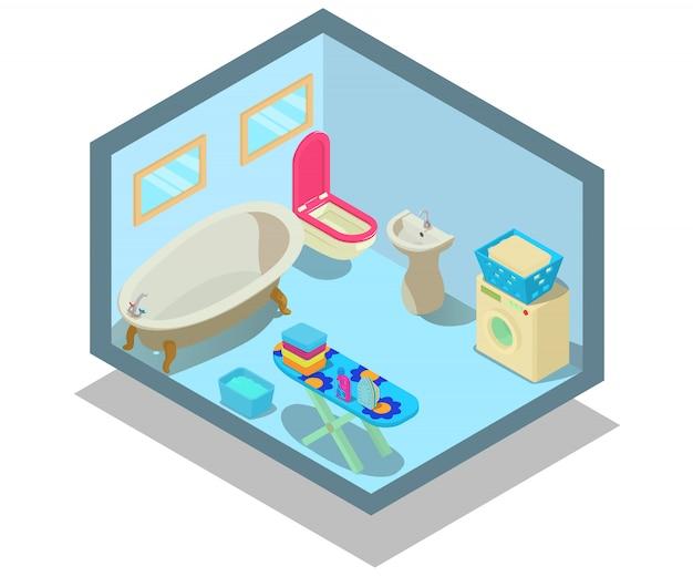 Cena do conceito de banheiro