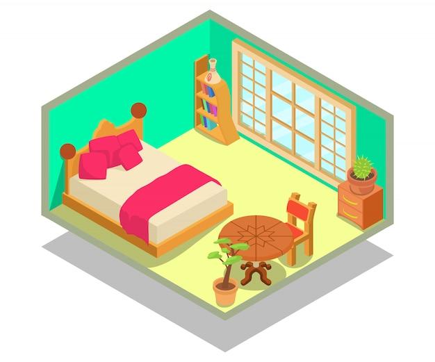 Cena do conceito de dormitório