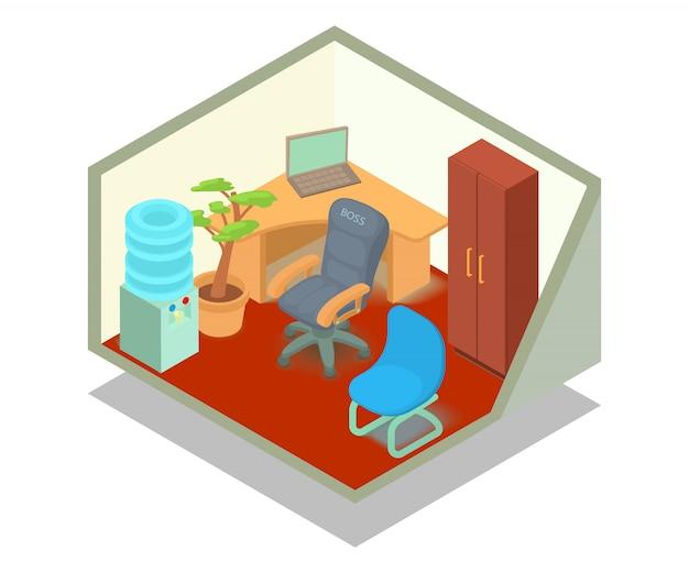 Cena do conceito de gabinete