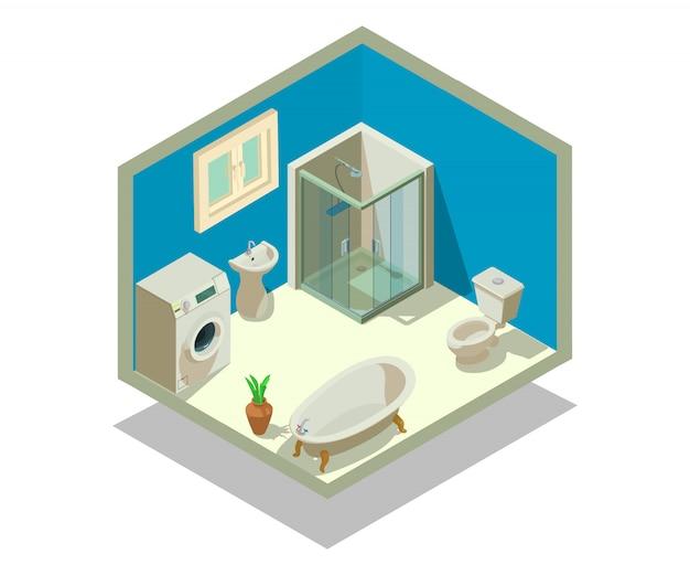 Cena do conceito de lavatório