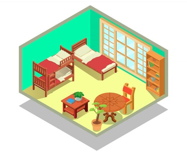 Cena do conceito de quarto de crianças