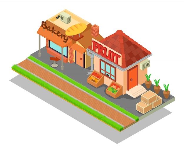 Cena do conceito de rua de comida