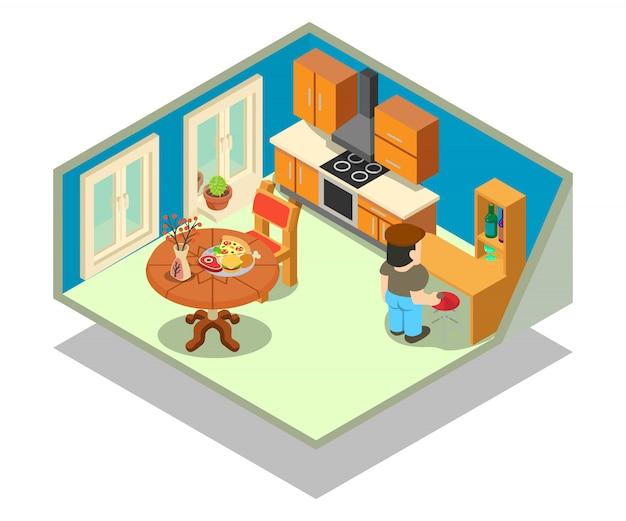 Cena do conceito de sala de estar