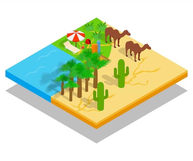 Cena do conceito oasis