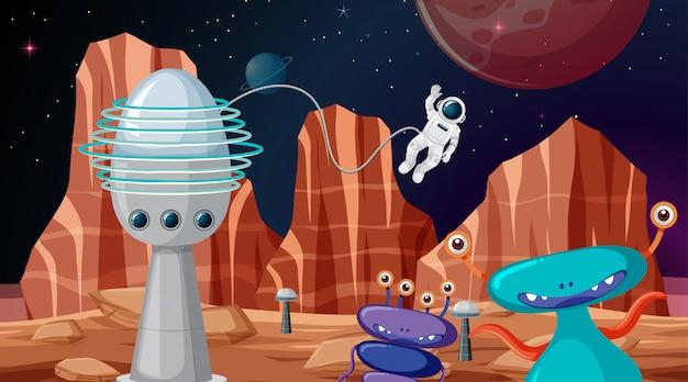 Cena do espaço sideral de fundo