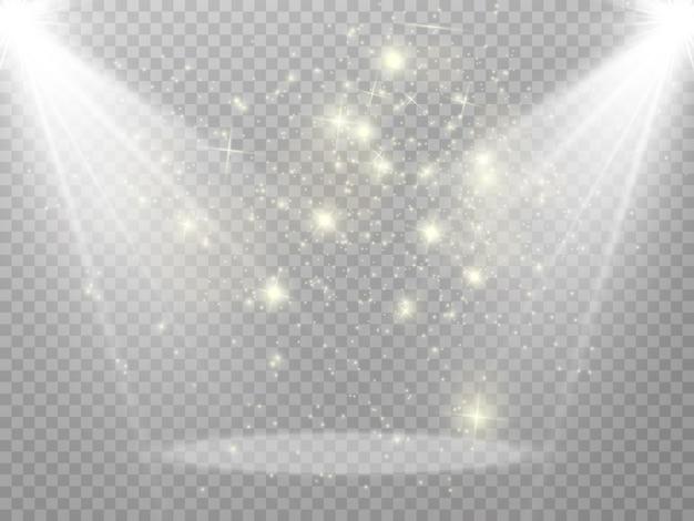 Cena do pódio para a cerimônia de premiação pedestal holofote pódio sob a luz das estrelas