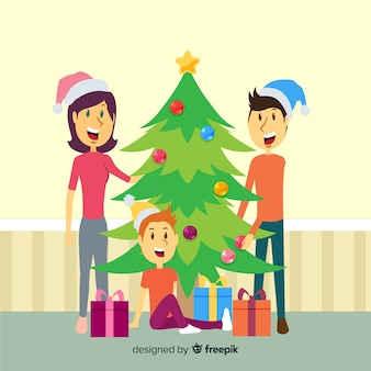 Cena familiar de natal