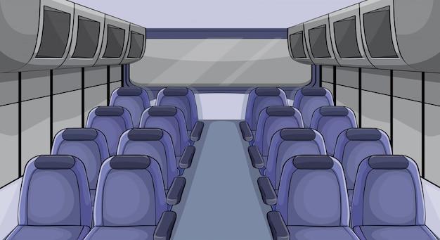 Cena no avião com assentos azuis