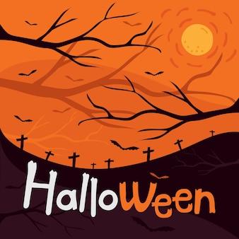Cena noturna de halloween