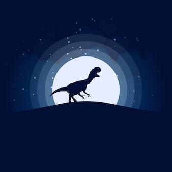 Cena noturna de t-rex