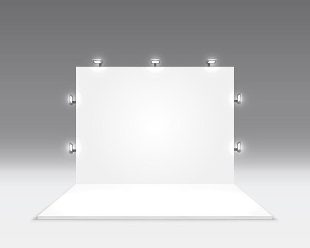 Cena show pódio para apresentações isoladas em cinza.