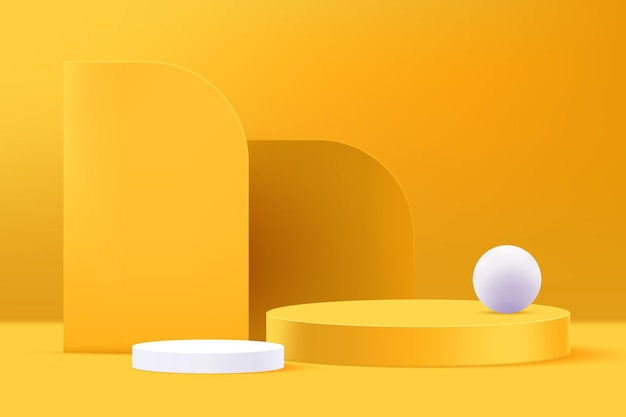 Cenário abstrato 3d e formas de fundo