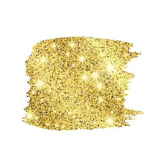 Cenário brilhante de pintura dourada sobre um fundo branco. fundo com brilhos de ouro e efeito de glitter. espaço vazio para o seu texto. ilustração vetorial