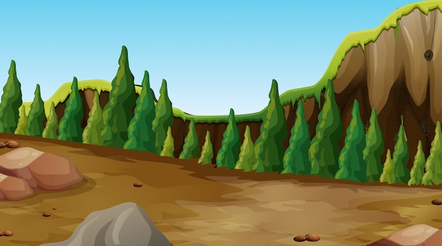 Cenário da natureza do fundo vazio