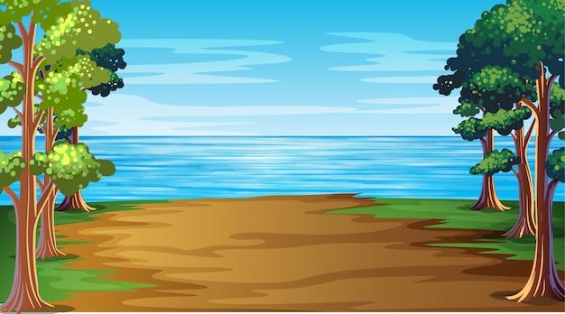 Cenário da natureza do mar