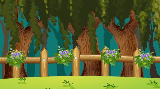 Cenário da natureza vazia