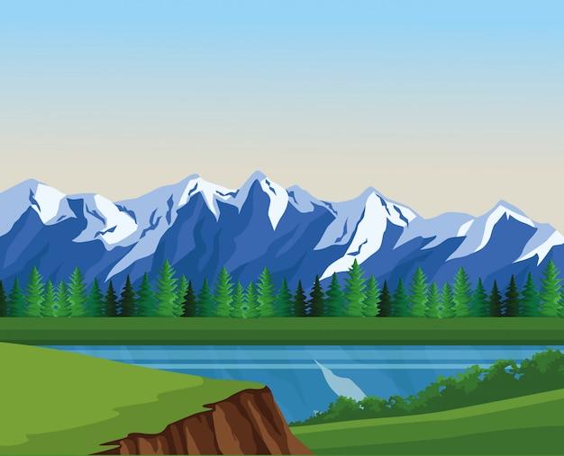 Cenário da paisagem de desejo de viajar