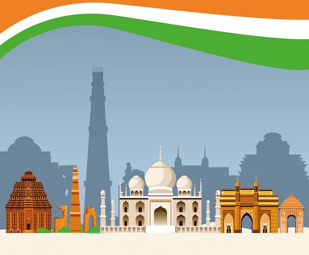 Cenário de arquitetura de construção de índia