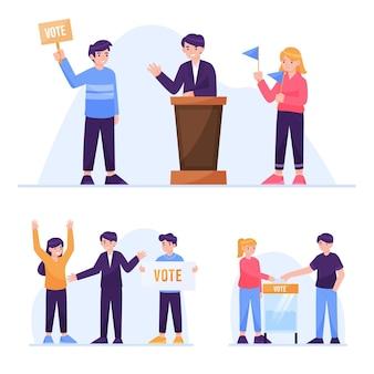 Cenário de campanha eleitoral definido