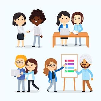 Cenário de desenhos animados do dia de trabalho