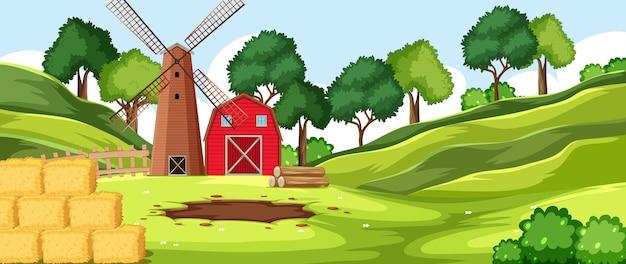 Cenário de fazenda natural de fundo vazio