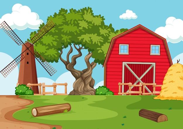 Cenário de fazenda natureza fundo vazio