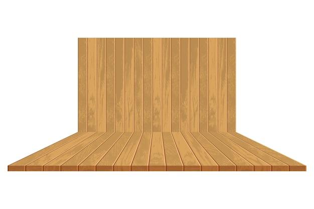 Cenário de madeira realista
