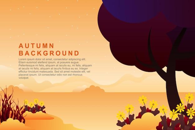 Cenário de montanha de noite de verão e ilustração de fundo do céu