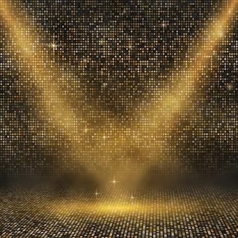 Cenário de mosaico dourado de luxo