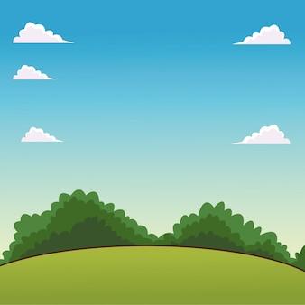 Cenário de paisagem dos desenhos animados