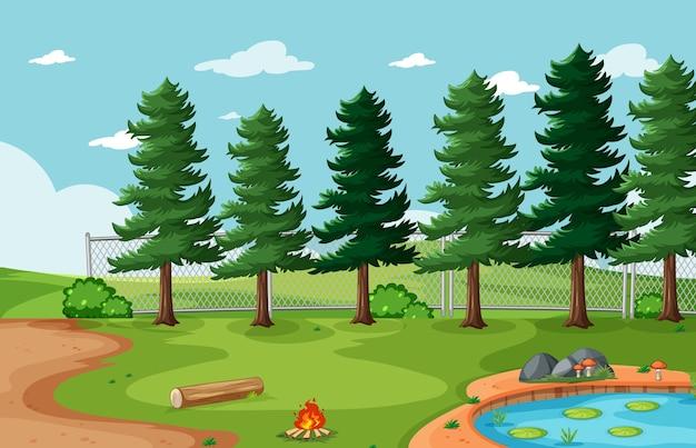 Cenário de parque natural de fundo vazio