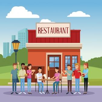 Cenário de restaurante
