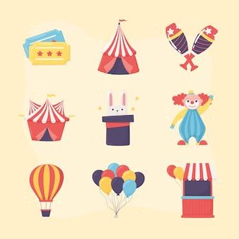 Cenário de show de circo