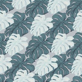 Cenário de silhueta de plantas filodendras de folhas tropicais