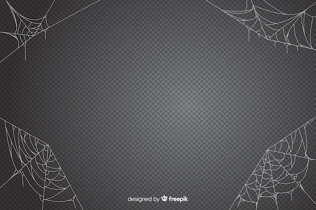 Cenário de web de aranha de halloween