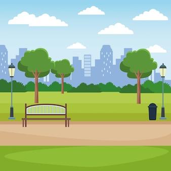 Cenário do parque da cidade