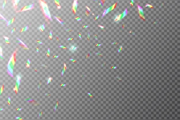Cenário holográfico. folha de arco-íris voando