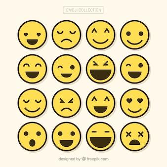 Cenário minimalista de emojis