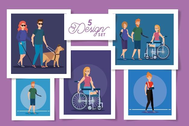 Cenários de pessoas com deficiência