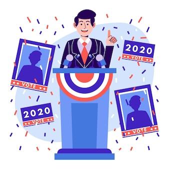 Cenas de campanha eleitoral