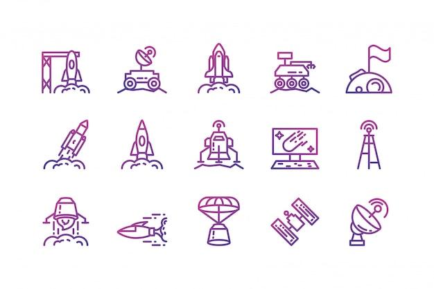 Cenografia de ícone de espaço isolado