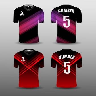 Cenografia do esporte do t-shirt do clube do futebol. Vetor Premium