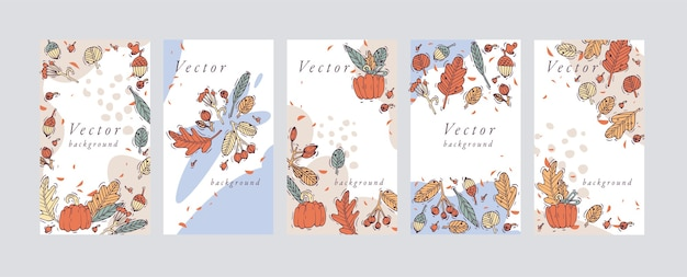 Cenografia modelos de fundos coloridos - papéis de parede de histórias de mídia social. venda de outono, conteúdo promocional de mídia social com elementos de quedas.