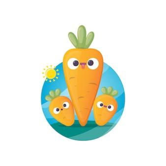 Cenoura sorridente dos desenhos animados
