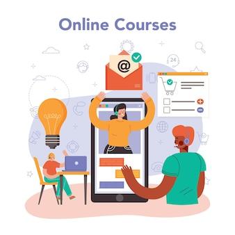 Central de atendimento ou serviço ou plataforma de suporte técnico online. consultor