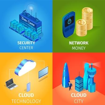 Central de segurança e rede de dinheiro